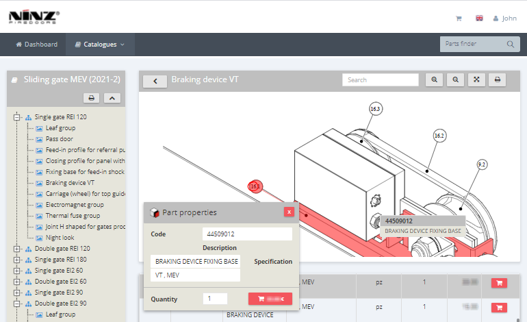 spare parts software Ninz05 - InteractiveSPares.com